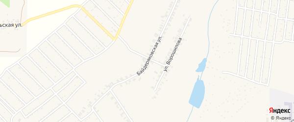 Байдеряковская улица на карте поселка Кугеси с номерами домов
