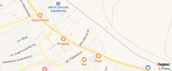 Шоссейная улица на карте Харабали с номерами домов