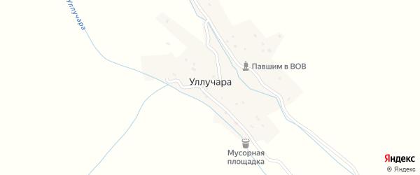 Местность Гилакат на карте села Уллучары с номерами домов