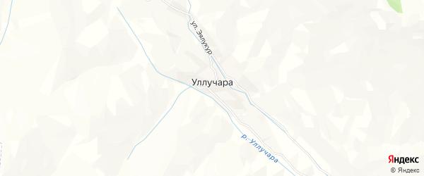 Карта села Уллучары в Дагестане с улицами и номерами домов