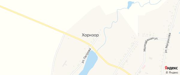 Улица Ахазова на карте деревни Хорнзора с номерами домов