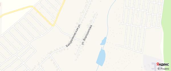Улица Ворошилова на карте поселка Кугеси с номерами домов