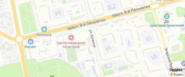 Хузангая улица на карте Чебоксар с номерами домов