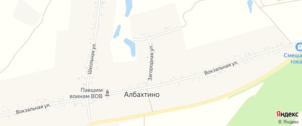 Загородная улица на карте деревни Албахтино с номерами домов
