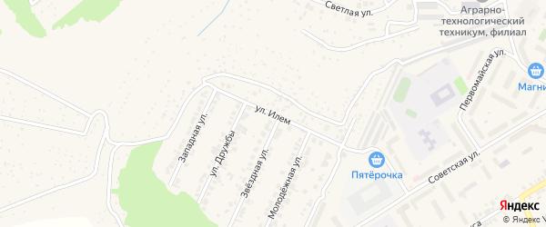 Улица Илем на карте поселка Кугеси с номерами домов