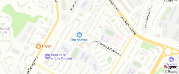 Улица Патриса Лумумбы на карте Чебоксар с номерами домов