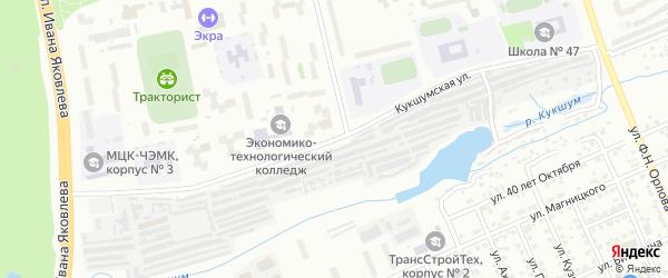 Кукшумская улица на карте Чебоксар с номерами домов