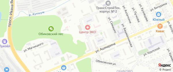 Улица Волкова на карте Чебоксар с номерами домов