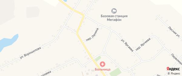 Переулок Ленина на карте села Новое Чурашево с номерами домов