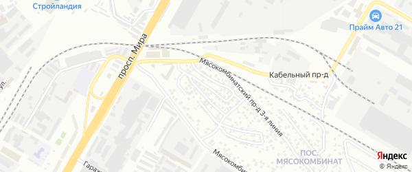Проезд Мясокомбинатский 4-я линия на карте Чебоксар с номерами домов