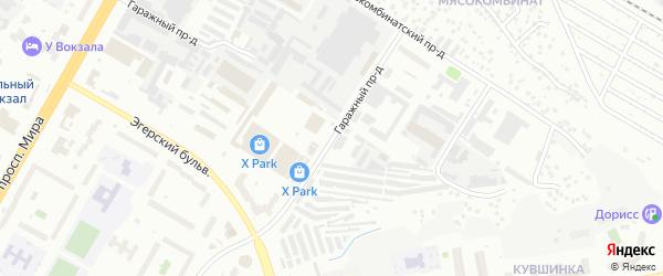 Гаражный проезд на карте Чебоксар с номерами домов