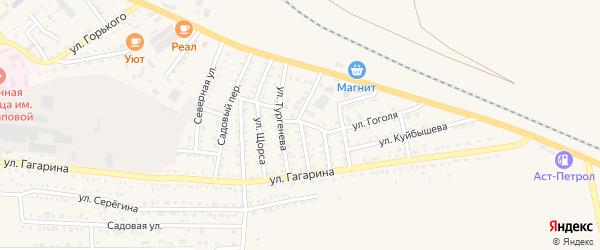 Улица Пушкина на карте Харабали с номерами домов