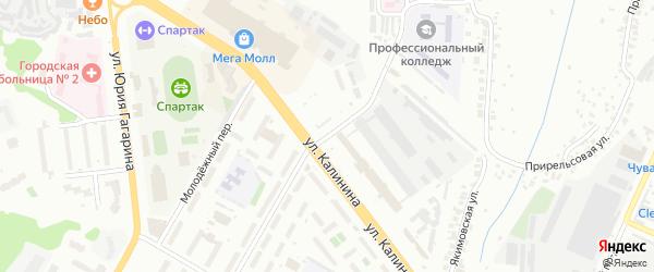 Улица Декабристов на карте Чебоксар с номерами домов