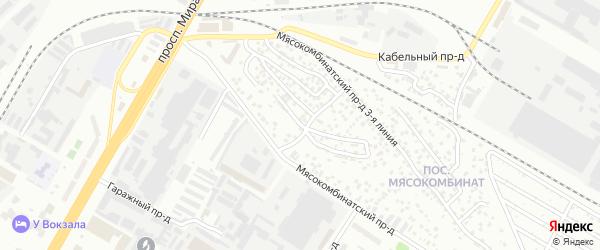 Проезд Мясокомбинатский 6-я линия на карте Чебоксар с номерами домов