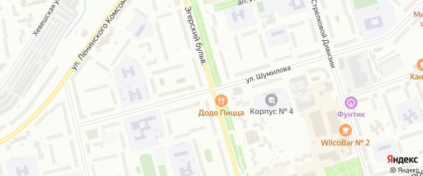 Эгерский бульвар на карте Чебоксар с номерами домов