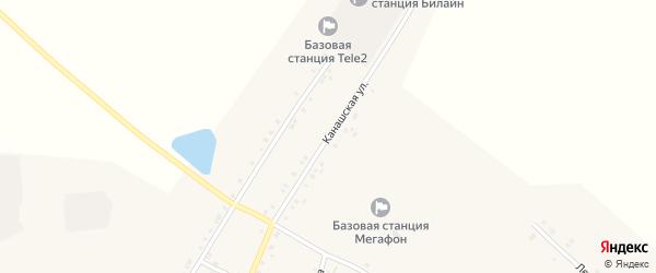 Канашская улица на карте села Новое Чурашево с номерами домов
