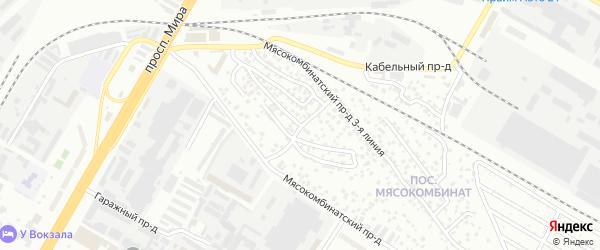 Проезд Мясокомбинатский 5-я линия на карте Чебоксар с номерами домов