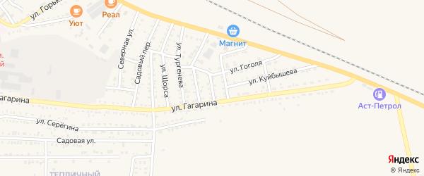 Астраханский переулок на карте Харабали с номерами домов