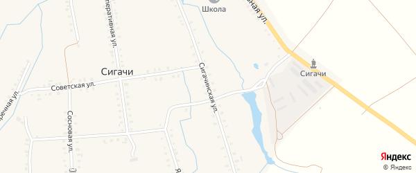 Сигачинская улица на карте деревни Сигачи с номерами домов