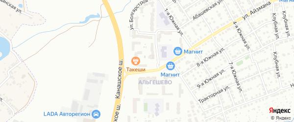Улица Болгарстроя на карте Чебоксар с номерами домов