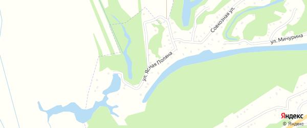 Улица Ясная Поляна на карте садового некоммерческого товарищества Первые Садоводы сад N1 с номерами домов
