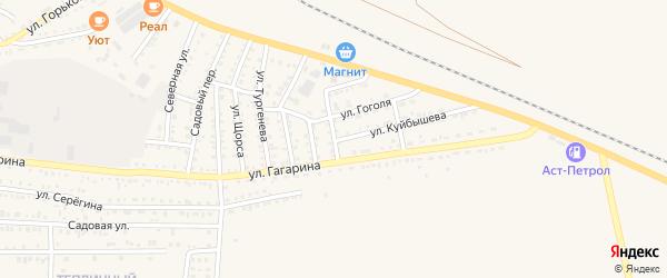 Астраханская улица на карте Харабали с номерами домов
