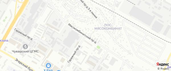 Мясокомбинатский проезд на карте Чебоксар с номерами домов