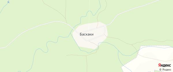 Карта поселка Баскаки в Чувашии с улицами и номерами домов