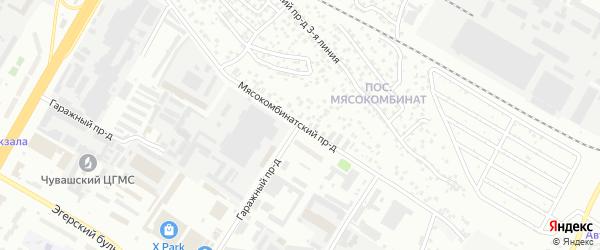 Проезд Мясокомбинатский 7-я линия на карте Чебоксар с номерами домов