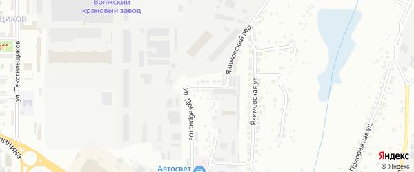 Улица 2-ой Якимовский овраг на карте Чебоксар с номерами домов