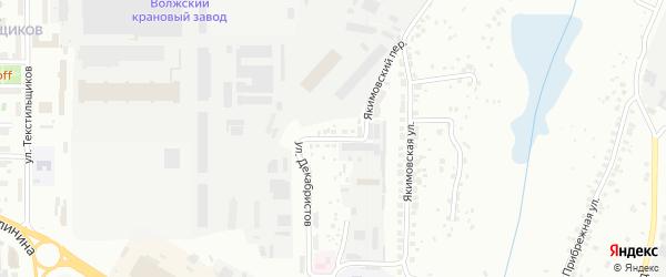 Улица Якимовский овраг на карте Чебоксар с номерами домов