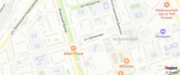Улица Шумилова на карте Чебоксар с номерами домов