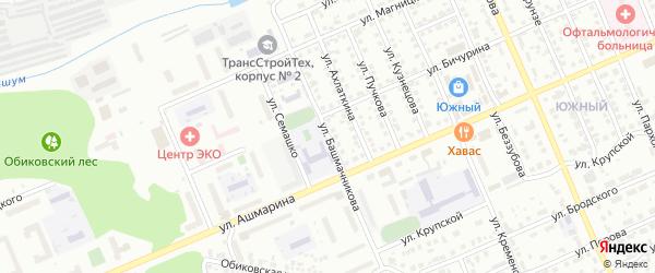 Улица Башмачникова на карте Чебоксар с номерами домов