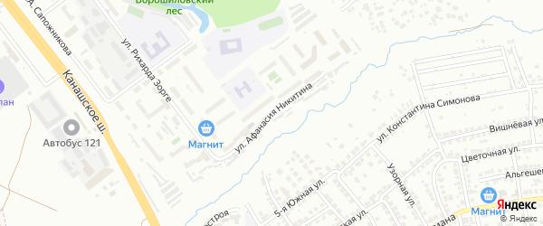 Улица А.Никитина на карте Чебоксар с номерами домов