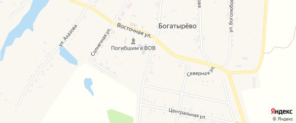Пришкольная улица на карте села Богатырево с номерами домов