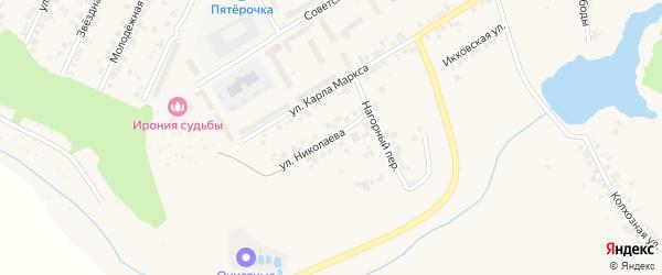 Улица Николаева на карте поселка Кугеси с номерами домов
