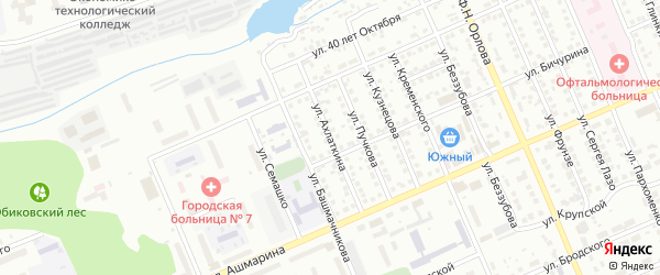 Улица Ахлаткина на карте Чебоксар с номерами домов