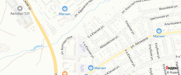 2-я Южная улица на карте Чебоксар с номерами домов