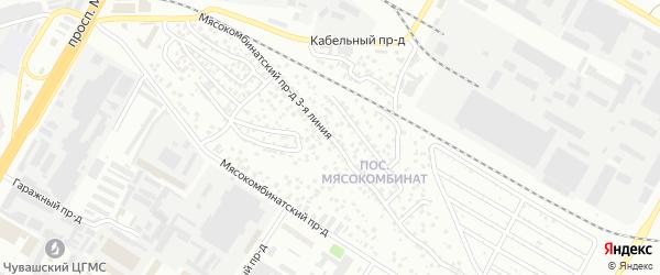 Проезд Мясокомбинатский 3-я линия на карте Чебоксар с номерами домов