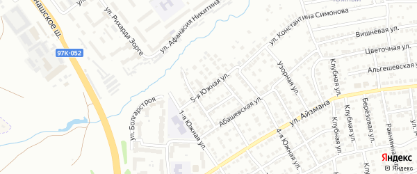 5-я Южная улица на карте Чебоксар с номерами домов