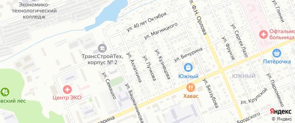 Улица Пучкова на карте Чебоксар с номерами домов