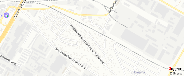 Проезд Мясокомбинатский 2-я линия на карте Чебоксар с номерами домов