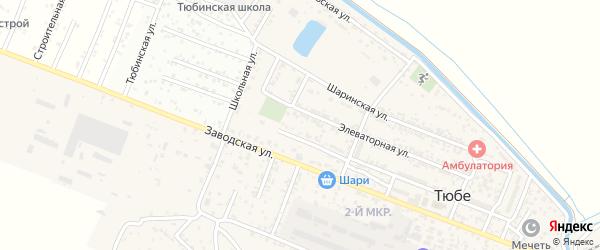 Улица Дзержинского на карте поселка Тюбе с номерами домов