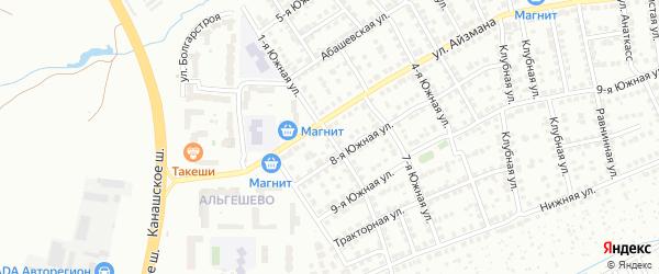 1-ая Южная улица на карте Чебоксар с номерами домов