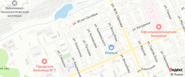 Улица Кузнецова на карте Чебоксар с номерами домов