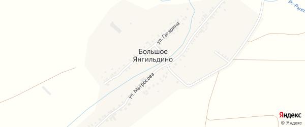 Улица 11 лет Чувашии на карте деревни Большое Янгильдино с номерами домов