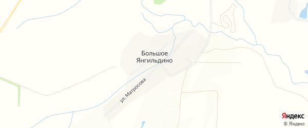 Карта деревни Большое Янгильдино в Чувашии с улицами и номерами домов