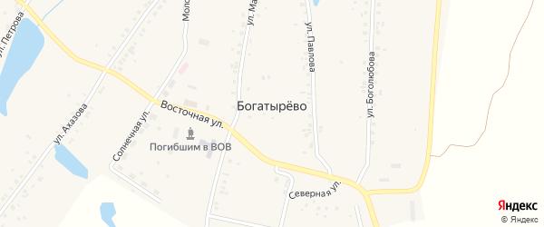 Восточная улица на карте села Богатырево с номерами домов