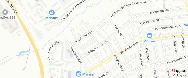 3-я Южная улица на карте Чебоксар с номерами домов