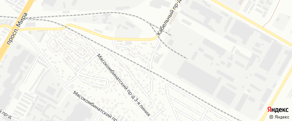 Проезд Мясокомбинатский 1-я линия на карте Чебоксар с номерами домов